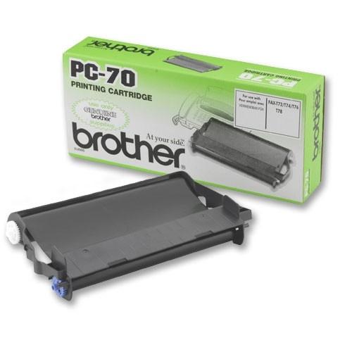 Brother PC-70 Thermo Transfer Farbkassette TTF schwarz 144 Seiten144 Seiten