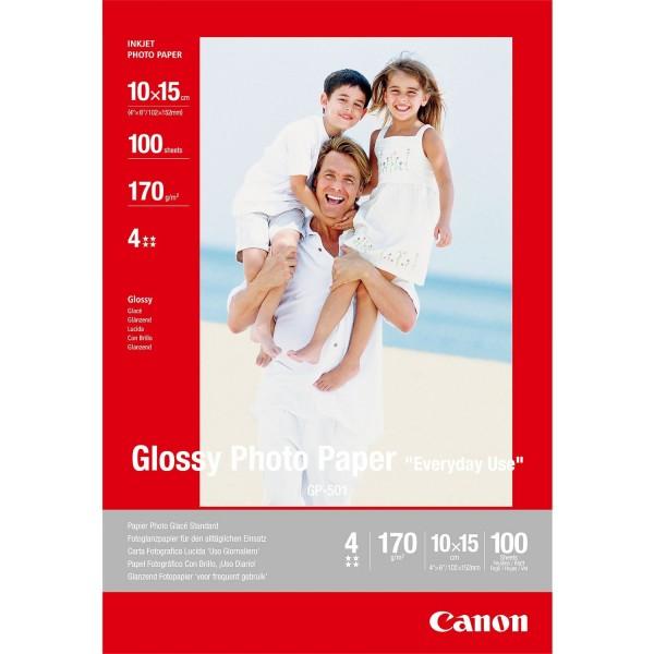 Canon GP-501 glänzend Fotopapier inkjet 210g/m² 10x15cm 100 Blatt 1er-Pack 0775B003