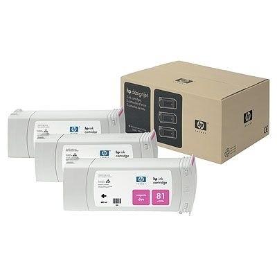 HP 81 Tintenpatrone magenta  3er Pack