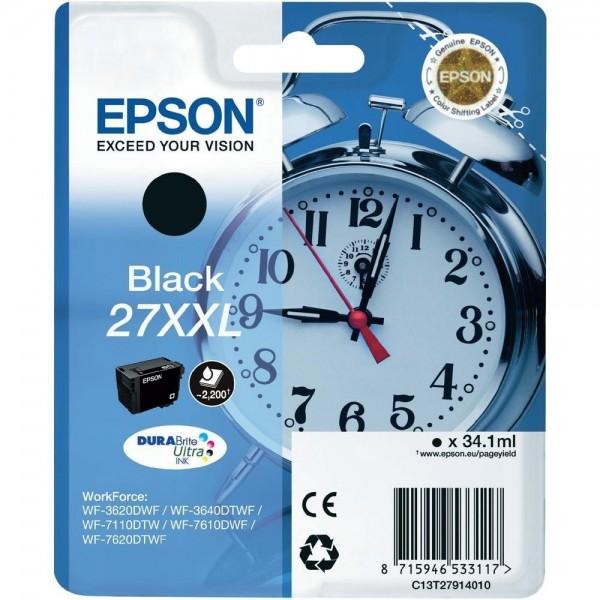 Epson Tintenpatrone 27XXL Black WorkForce WF-3620DWF WF-3640DTWF 7710dwf