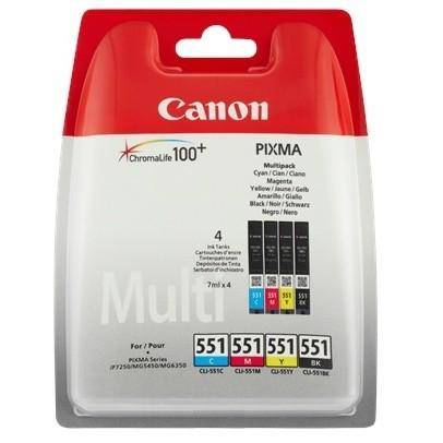 Canon CLI-551Z Tinte Multi Pack MG5450 MG6350 MG6600 7100 7500 MX925 IP7250 iP8700 iX6800 6509B009