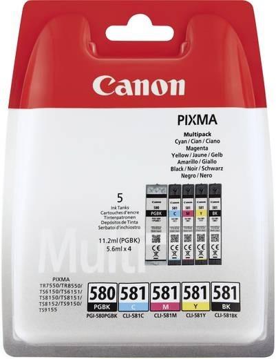 Canon Tinte Multipack PGI-580 CLI-581 CMY PIXMA TR7550 TR8550 TS9150 2078C005