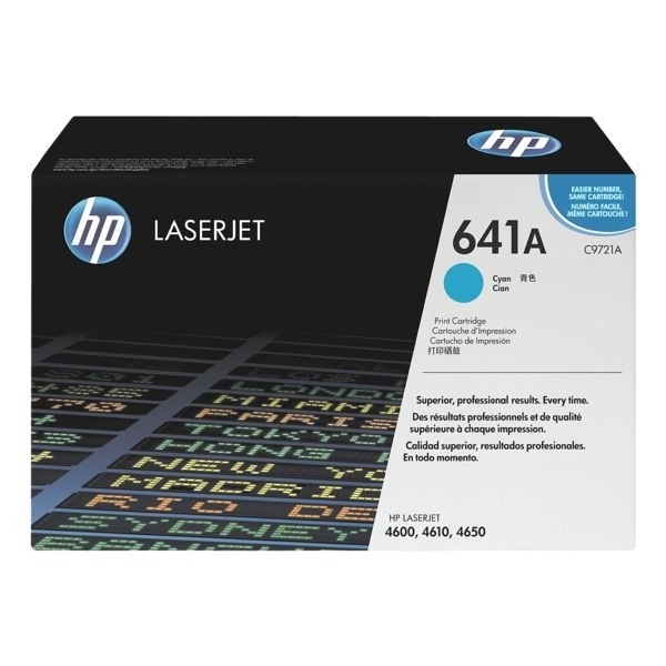 HP 641A Toner cyan C9721A für Color LaserJet 4600 4610 4650