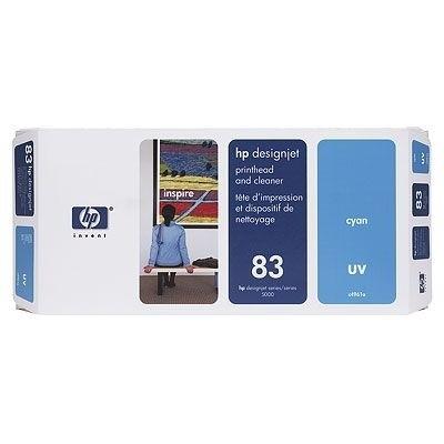 HP 83 Druckkopf Cyan C4961A incl. Druckkopf Reiniger DJ5000 DJ5500 UV
