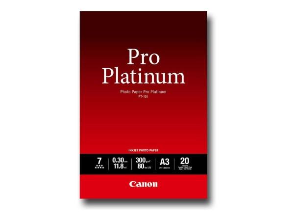 Canon PT-101 pro platinum Fotopapier 300g/m² A3 20 Blatt 2768B017