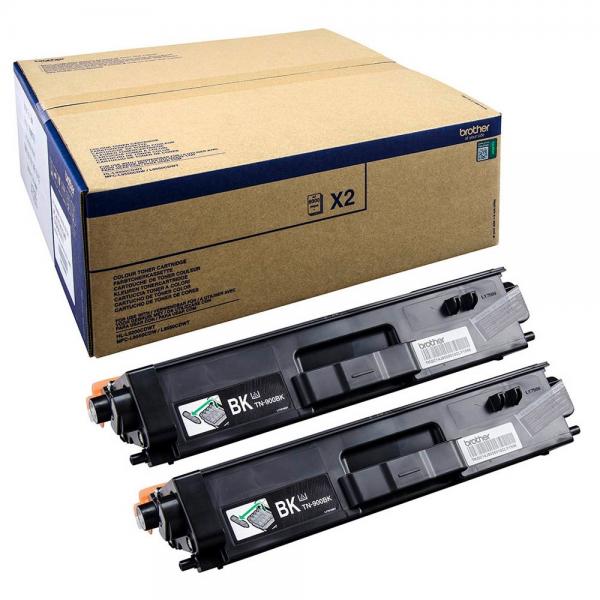 Brother TN-900BK Toner Doppelpack Black für HL-L9200CDWT MFC-L9550CDWT