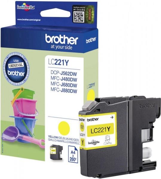 Brother LC221Y Tintenpatrone Yellow DCP J562DW MFC-J480 MFC-J680 J880