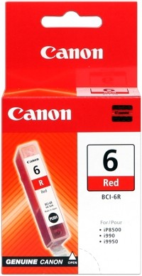 CANON BCI-6R Tinte rot 13ml i990 9900 9950 iP8500