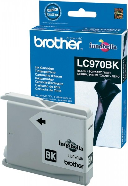Brother Tintenpatrone Schwarz LC970BK