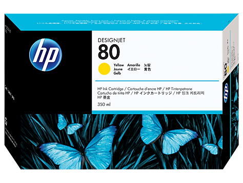 HP 80 Tinte Yellow für DesignJet 1050C 1055CM C4848A