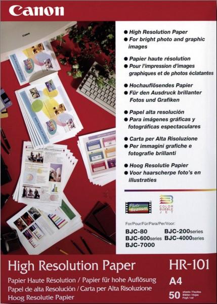 Canon HR-101 high resolution Papier inkjet 110g/m² A4 50 Blatt 1er-Pack