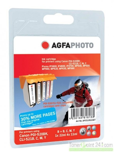 AGFAPHOTO CCLI521SET Canon MP450 SET