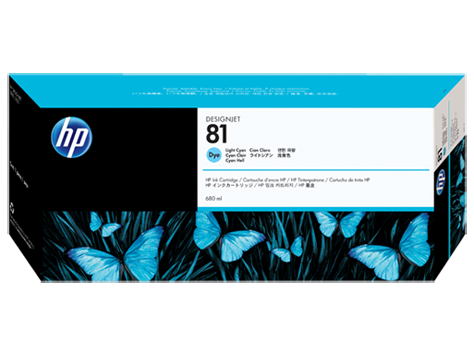 HP 81 Plotter Tinte Cyan hell C4934A HP DesignJet 5000 DJ5500 Serie