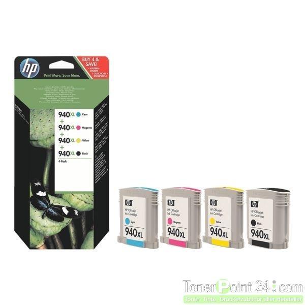 HP 940 XL Tinte 4er Pack für HP OfficeJet Pro 8000 8500 C2N93AE