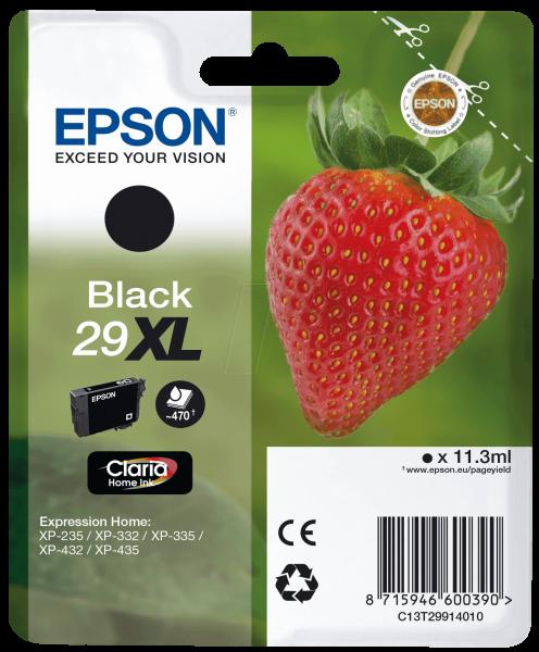 Epson Tinte Erdbeere 29XL Black Claria Home XP-235 XP-335 XP-435