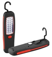 Goobay LED Arbeitsleuchte 24 LEDs mit praktischem Haken undMagnethalter
