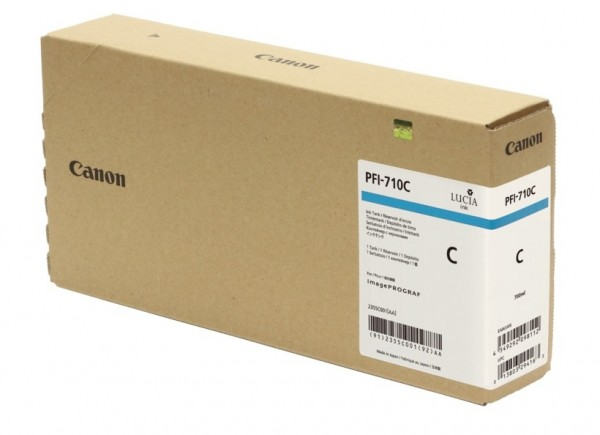 Canon PFI-710C Tinte cyan 2355C001 für imagePROGRAF TX-2000 TX-3000 TX-4000