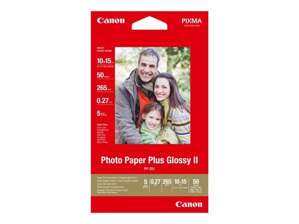 Canon PP-201 plus Fotopapier inkjet 260g/m² 10x15cm 50 Blatt 1er-Pack