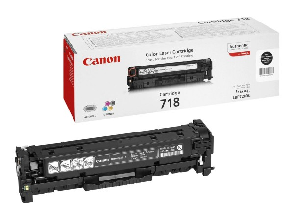 Canon 718 Cartridge Black 2662B002 LBP 7200 7660 MF8350 8380