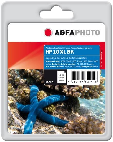 AGFAPHOTO HP10 BXL HP BJ1100 Tinte Black APHP10BXL