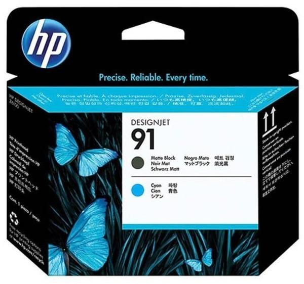 HP 91 Druckkopf Black Matt / Cyan für DesignJet Z6100 HP Designjet Z 6100 PS C9460A