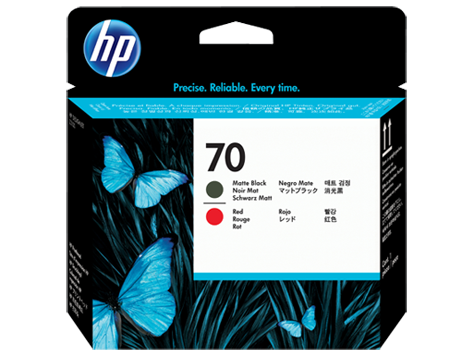 HP 70 Druckkopf Matt Schwarz + Rot DesignJet Z3100 Z3200 C9409A