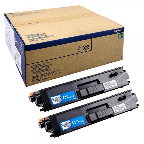 Brother TN-900C Toner Doppelpack Cyan für HL-L9200CDWT MFC-L9550CDWT