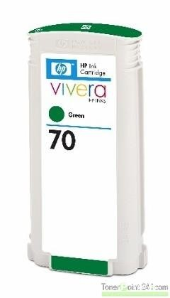 HP 70 Tinte grün Z2100 Z3100 Z5200 HP Vivera Tinte C9457A
