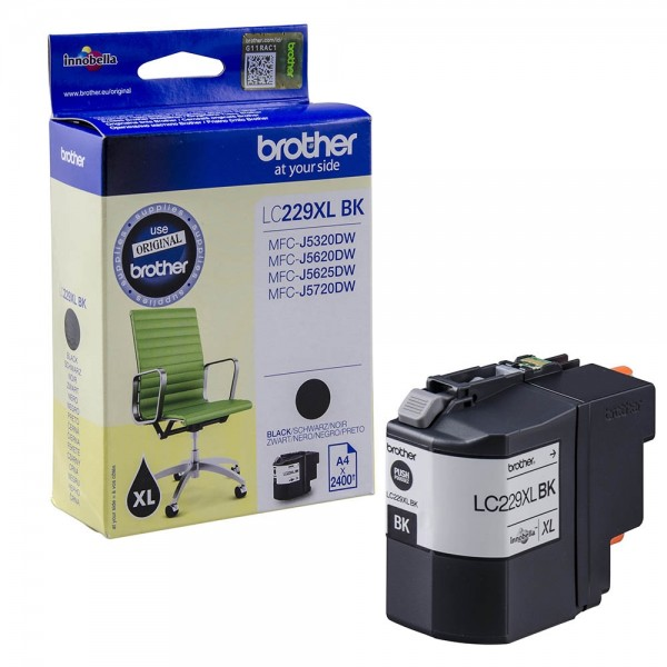 Brother LC-229XLBK Tinte Black Original HIGH CAPACITY MFC-J5720
