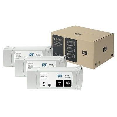 HP 83 Tinte Schwarz UV No.83 3er Pack DSJ5500 MultiPak