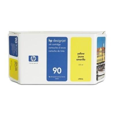 HP 90 Tinte Gelb 225ml für DesignJet 4000 4500 4020 4520