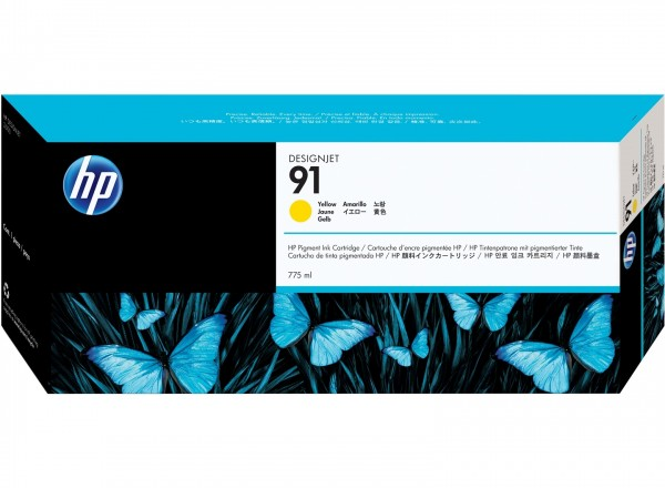 HP 91 Tinte Yellow HP DesignJet Z6100 HP DesignJet Z6100ps C9469A