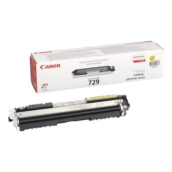 Canon 729 Toner Cartridge Yellow LBP-7010C 7018 7810C 4367B002