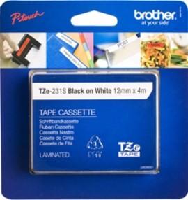 Brother TZE-231S2 PTouch schwarz auf weiss 12mm 4m