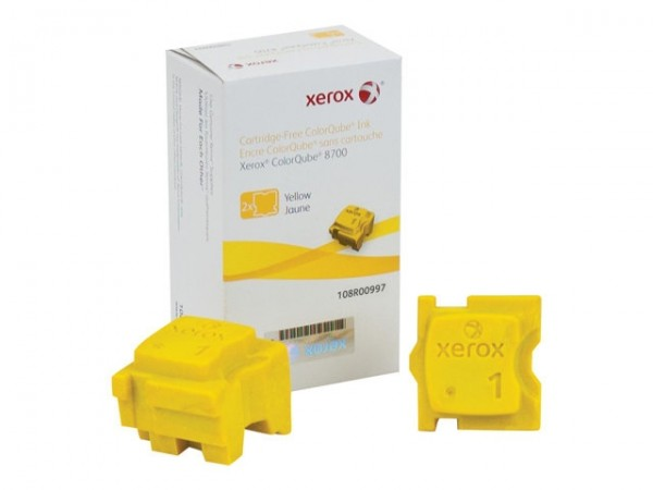 XEROX ColorQube 8700 Festtinte STIX 2 Yellow Solid Ink