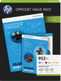 HP 953XL Office Value Pack mit 50 Seiten AIO Printing Paper 1CC21AE