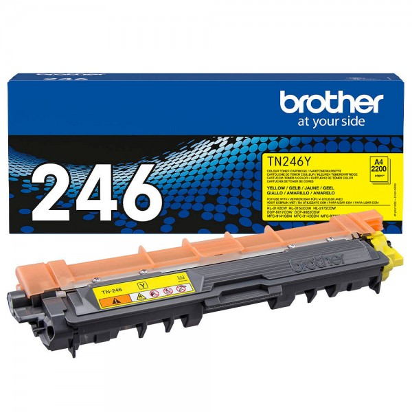 Brother TN-246Y Toner Yellow HL-3142CW HL-3152CDW 3172 DCP-9022 MFC-9142 MFC-9342
