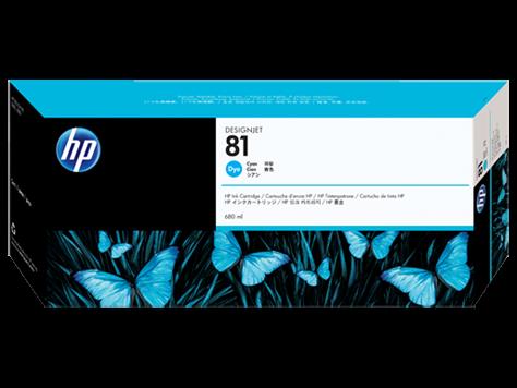 HP 81 Plotter Tinte Cyan C4931A HP DesignJet 5000 DJ5500 Serie