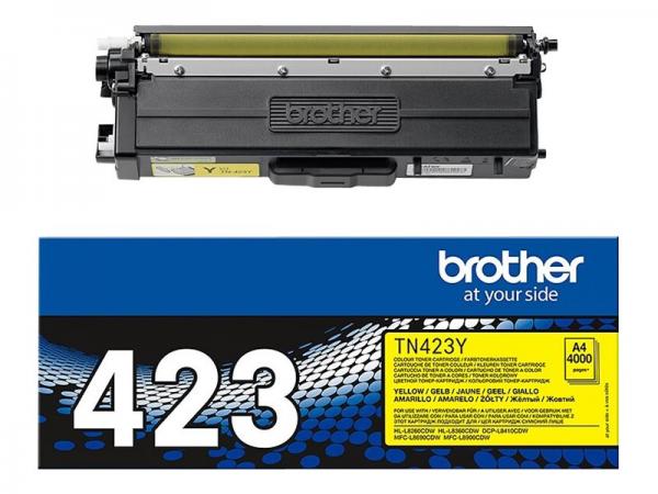 Brother TN-423Y Jumbo-Toner Yellow HL-L8260CDW HL-L8360CDW DCP-L8410CDW MFC-L8690CDW