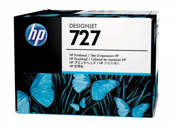 HP 727 Druckkopf Schwarz und Farbe für DesignJet T920 T930 T1500 T1530 T2500 B3P06A