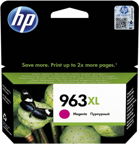 HP 963XL Tintenpatrone magenta für OfficeJet Pro 9010 9012 9014 9015 3JA28AE