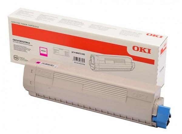 OKI C800 Toner Magenta OKI C823N OKI C833DN OKI C843DN 46471102 7.000 Seiten