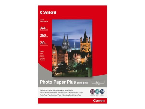 Canon SG-201 semi glänzend Fotopapier inkjet 260g/m² A4 20 Blatt 1er-Pack
