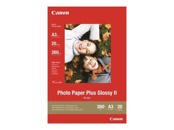 Canon PP-201 plus Fotopapier 260g/m² A3 20 Blatt 1er-Pack
