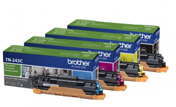Brother TN-243 Multipack CMYK Toner DCP-L3510 L3550 HL–L3230CDW MFC-L3750CDW