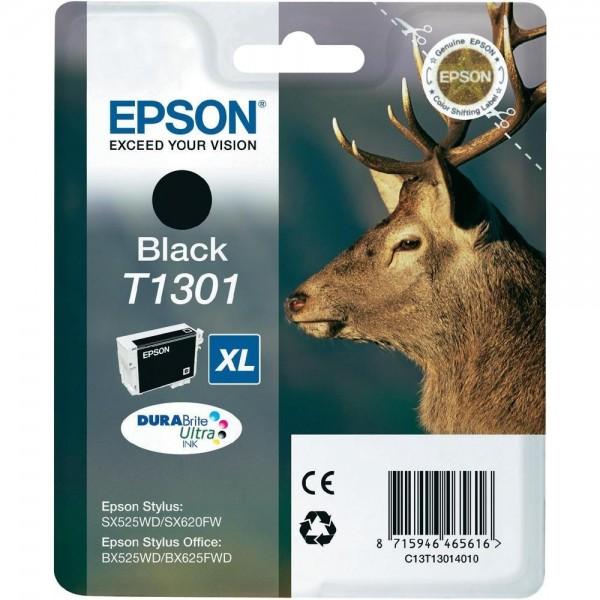Epson Hirsch Tintenpatrone T1301 Black XL Stylus SX525WD SX620FW BX525WD BX625FDW