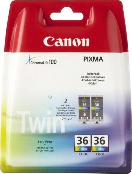 Canon CLI-36 Tinte Color Twin-Pack Pixma IP100 iP110 Pixma Mini 260 Pixma Mini 320 1511B018