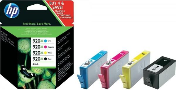 HP 920 XL C2N92AE Tinte 4er Pack für HP OfficeJet 6000 6500 7000 OJ7500