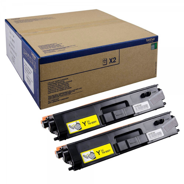 Brother TN-900Y Toner Doppelpack Yellow für HL-L9200CDWT MFC-L9550CDWT