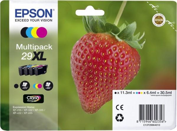 Epson Tinte Erdbeere 29XL Claria Home Multipack XP-235 XP-335 XP-345 XP-435 XP-445 T29964010